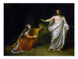 Póster Premium Christ's Appearance to Mary Magdalene after the Resurrection