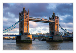 Póster Premium  Tower Bridge em Londres - Walter Bibikow