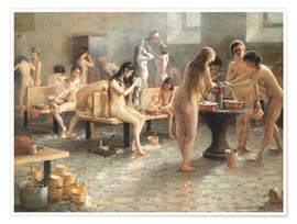 Póster Premium In the bath house
