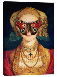 Quadro em tela  The butterfly mask (by Hans Holbein)