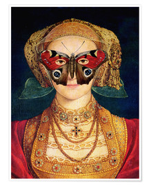 Póster Premium  The butterfly mask (by Hans Holbein)