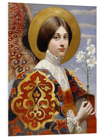 Quadro em PVC  Angel of annunciation - Eleanor Fortescue-Brickdale