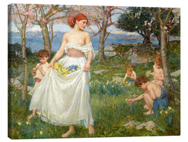 Quadro em tela  The spring field - John William Waterhouse