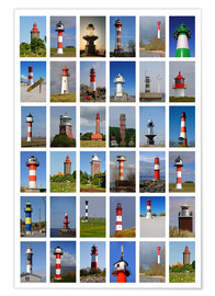 Póster Premium Lighthouses