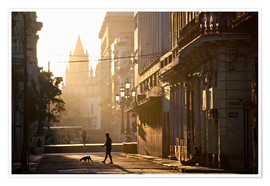 Póster Premium  Road at dawn, Havana - Lee Frost