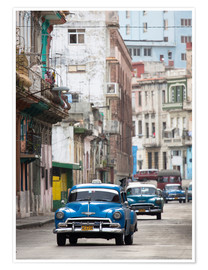 Póster Premium  Taxis in Avenue Colon, Cuba - Lee Frost