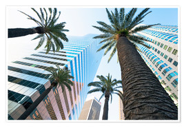 Póster Premium  Downtown, Los Angeles, California, United States of America, North America - Gavin Hellier