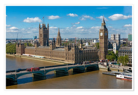 Póster Premium  Westminster Bridge with Houses of Parliament - Walter Rawlings