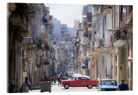 Quadro em acrílico  In the streets of Havana - Lee Frost