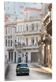 Quadro em acrílico  Taxi driving in Havana - Lee Frost