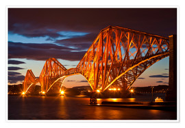 Póster Premium  Forth Rail Bridge, South Queensferry - Neale Clarke