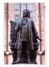 Póster Premium  Statue of Bach, Leipzig - Michael Snell