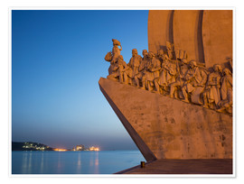 Póster Premium  Monument to Discoveries, Belem, Lisbon, Portugal, Europe - Angelo Cavalli