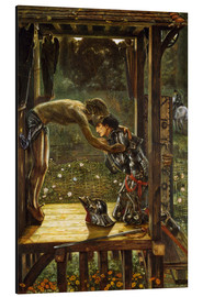Quadro em alumínio  The Merciful Knight - Edward Burne-Jones
