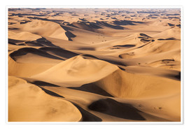 Póster Premium  Aerial view of the dunes of the Namib Desert, Namibia, Africa - Roberto Sysa Moiola