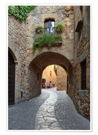 Póster Premium  Alley in Pals, Catalonia - Stuart Black