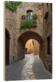 Quadro de madeira  Alley in Pals, Catalonia - Stuart Black