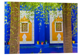 Quadro em PVC  Windows in the Majorelle Gardens - Matthew Williams-Ellis