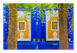 Póster Premium  Windows in the Majorelle Gardens - Matthew Williams-Ellis