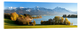 Quadro em acrílico  Lake Forggensee and the Alps - Markus Lange