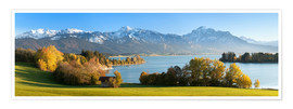 Póster Premium  Lake Forggensee and the Alps - Markus Lange