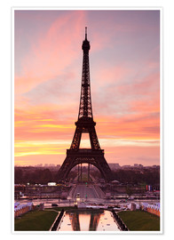 Póster Premium  Eiffel Tower at sunrise - Markus Lange