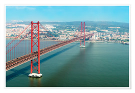 Póster Premium  Ponte 25 de Abril over the Tagus River - Gabrielle & Michel Therin-Weise