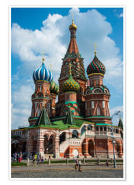 Póster Premium  St. Basil's Cathedral, Moscow - Michael Runkel