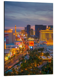 Quadro em alumínio  The Strip, Las Vegas, Nevada, United States of America, North America - Alan Copson