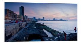 Quadro em PVC  The Malecon, Havana, Cuba, West Indies, Central America