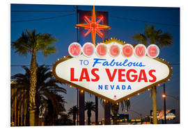 Quadro em PVC  Las Vegas Sign at night