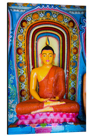 Quadro em alumínio  Colourful Buddha statue at Isurumuniya Vihara, Anuradhapura, UNESCO World Heritage Site, Sri Lanka,A - Matthew Williams-Ellis