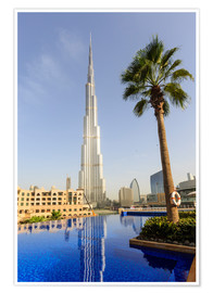 Póster Premium  Pool and Burj Khalifa - Amanda Hall