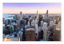 Póster Premium  Chicago skyline - Amanda Hall