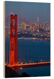 Quadro de madeira  Golden Gate Bridge - Miles Ertman