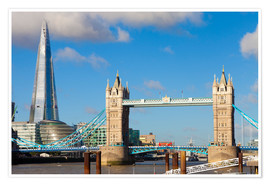 Póster Premium  The Shard & Tower Bridge - Miles Ertman