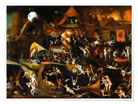Póster Premium  The harrowing of hell - Hieronymus Bosch