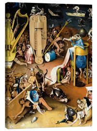 Quadro em tela  Garden of Earthly Delights, Hell (detail) - Hieronymus Bosch
