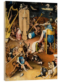 Quadro de madeira  Garden of Earthly Delights, Hell (detail) - Hieronymus Bosch