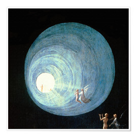 Póster Premium  The Ascent to the Heavenly Paradise (detail) - Hieronymus Bosch