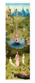 Póster Premium  Garden of Earthly Delights, the paradise - Hieronymus Bosch