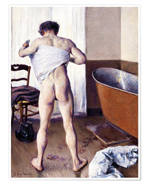 Póster Premium  Man in the bathroom - Gustave Caillebotte