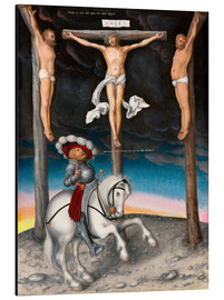 Quadro em alumínio  The Crucifixion with the converted Captain - Lucas Cranach d.Ä.