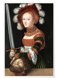 Póster Premium Judith with the Head of Holofernes