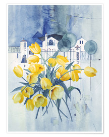 Póster Premium  View with tulips - Franz Heigl