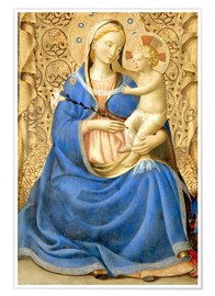 Póster Premium  Madonna with Child - Fra Angelico