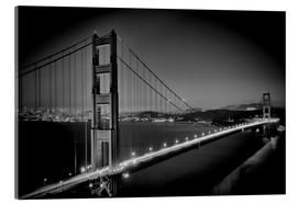 Quadro em acrílico  Golden Gate Bridge in the Evening - Melanie Viola