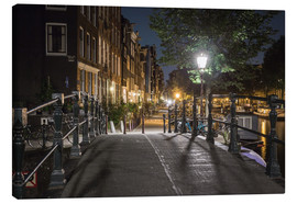 Quadro em tela  One night in Amsterdam - Scott McQuaide