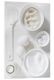 Quadro em acrílico  Country home baking ingredients - K&L Food Style