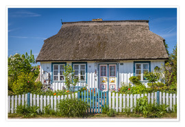 Póster Premium  Thatched cottage on the Baltic Sea - Christian Müringer